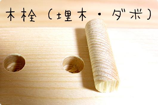木栓(ダボ・埋木)